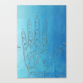 In the Palm of your Hand Palmistry art Canvas Print