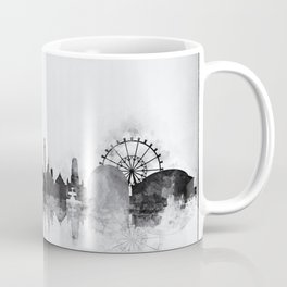 Black and White Stuttgart City Skyline Coffee Mug