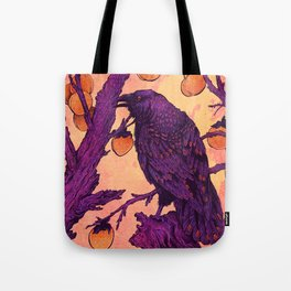 Raven and Persimmons Tote Bag
