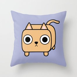 Cat Loaf - Orange Kitty Throw Pillow