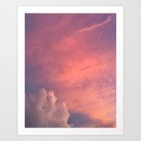 Love2Snap Instagram pics pink sunset Art Print