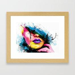 FACE--ART Framed Art Print