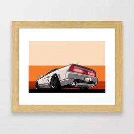 White Honda Acura NSX Framed Art Print