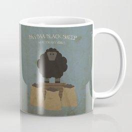 Baa Baa Black Sheep. Children's Nursery Rhyme Inspired Artwork. Coffee Mug