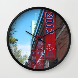 Red Sox - 2013 World Series Champions!  Fenway Park Wall Clock