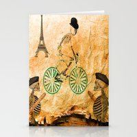 "tour de france Stationery Cards featuring Monsieur Bone and "" le  Tour de France "" by Ganech joe"