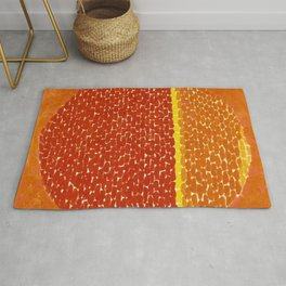 Snoopy sees Earth Wrapped in Sunset African American Masterpiece by Alma Thomas Rug