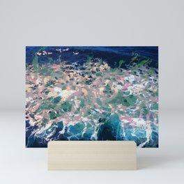 Digital Italian Sea Sardegna Abstract Art Mini Art Print
