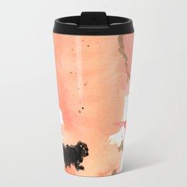 Calm Coral Daydreaming Travel Mug