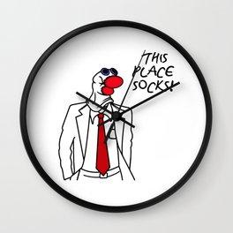 One Sock's Opinion Wall Clock