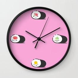 Happy Sushi! - Vector Wall Clock