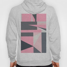 Modern hot pink gray abstract shapes pattern Hoody
