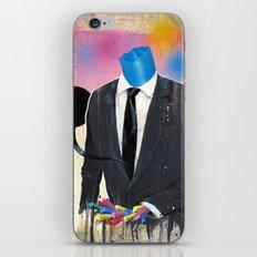 Plasticine man in a suit. iPhone & iPod Skin