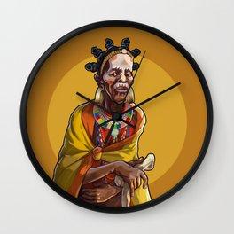 Masai Witch Doctor Wall Clock