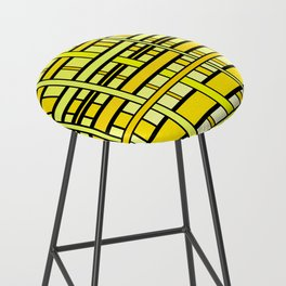 Yellow grid Bar Stool