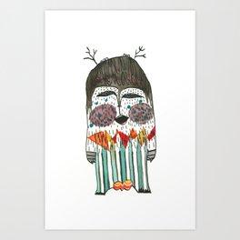 Lost and singing Yeti Art Print