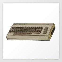 Commodore 64 Retro Computer Art Print