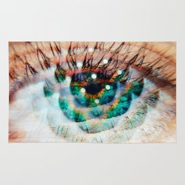 Green Eyes Hypnotize Rug