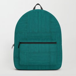 Teal Green Faux Bois Wood Pattern Backpack