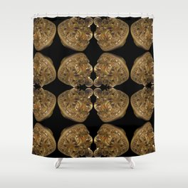 Fractal Art - Golden Pyramid Shower Curtain
