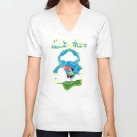 ponyo V-neck T-shirts featuring Ponyo by CarloJ1956
