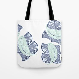 Boho Art Deco Indigo Tote Bag