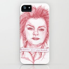 Russians Don't Play Baseball iPhone Case
