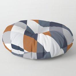 Navy Rust Geometry VII Floor Pillow
