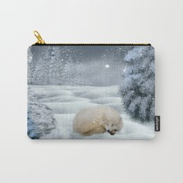 Sleeping polar fox Carry-All Pouch