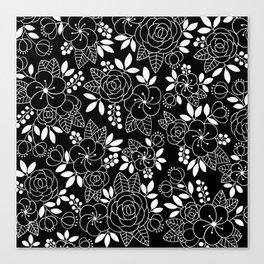 Rosalia Black Canvas Print