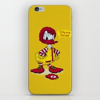 donald duck iPhone & iPod Skins featuring Donald by 2mzdesign
