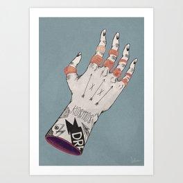 Right Handed Power Glove Art Print