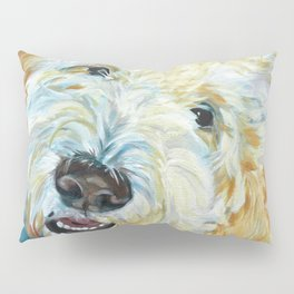 Stanley the Goldendoodle Dog Portrait Pillow Sham