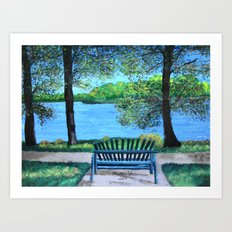 Place for lovers  Art Print