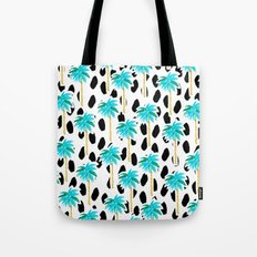 Palm Trees and Dots Tote Bag