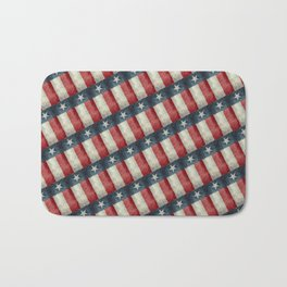 Texas State Flag Vintage Pattern Bath Mat