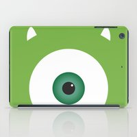 pixar iPad Cases featuring PIXAR CHARACTER POSTER - Mike Wazowski 2 - Monsters, Inc. by Marco Calignano