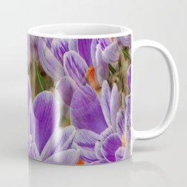 Striped Purple Crocuses Manipulated Coffee Mug