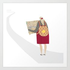 Off on a Waffley Big Adventure! Art Print