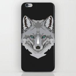 Grey Geometric Fox iPhone Skin