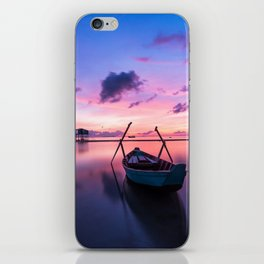 Rowboat and Sunrise on the Water iPhone Skin