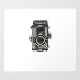 Vintage Camera (Yashica 44) Art Print