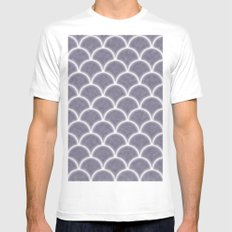 Large lilac gray scallops with fractal texture MEDIUM Mens Fitted Tee White