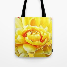 Yellow Rose Western Style Abstract Art Tote Bag