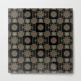 Aztec circle seamless indian pattern background Metal Print