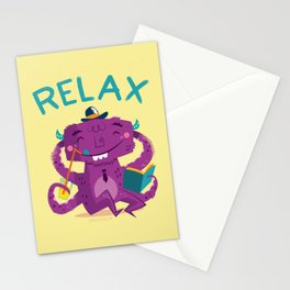 :::Relax Monster::: Stationery Cards