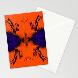 abstrackt blue/orange Stationery Cards