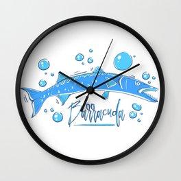 Big Blue Barracuda Wall Clock