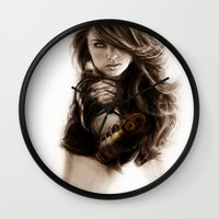 selena Wall Clocks featuring Selena-Q by Isaiah K. Stephens