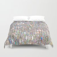 hologram Duvet Covers featuring To Love Beauty Is To See Light (Crystal Prism Abstract) by soaring anchor designs